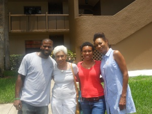 Matthew, Grandmommy, Me, and Mommy