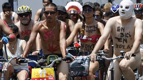 Click here to read the story: 300 nude cyclists hit streets in Peru ? CBC ...