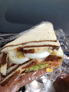 Egg, Avacado, and Tomato Triple