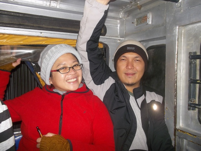 Kage and Rico on the Jeepny in Sagada