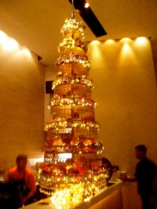 Christmas tree at People's Palace, a Thai restaurant in Greenbelt in Makati