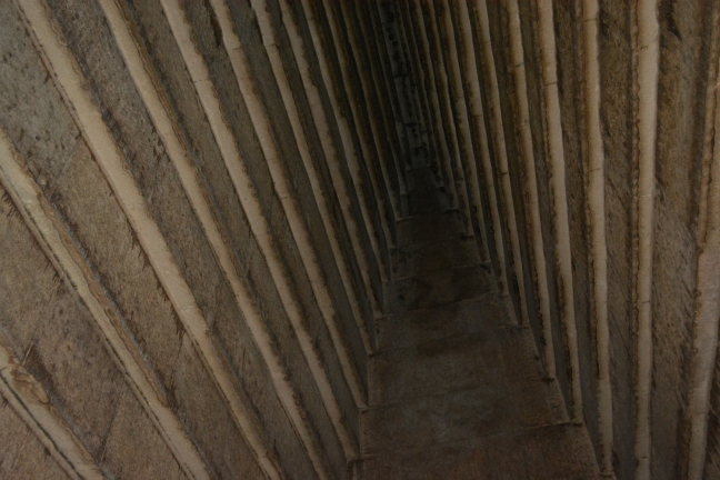 Corbelled ceiling inside of the Red Pyramid