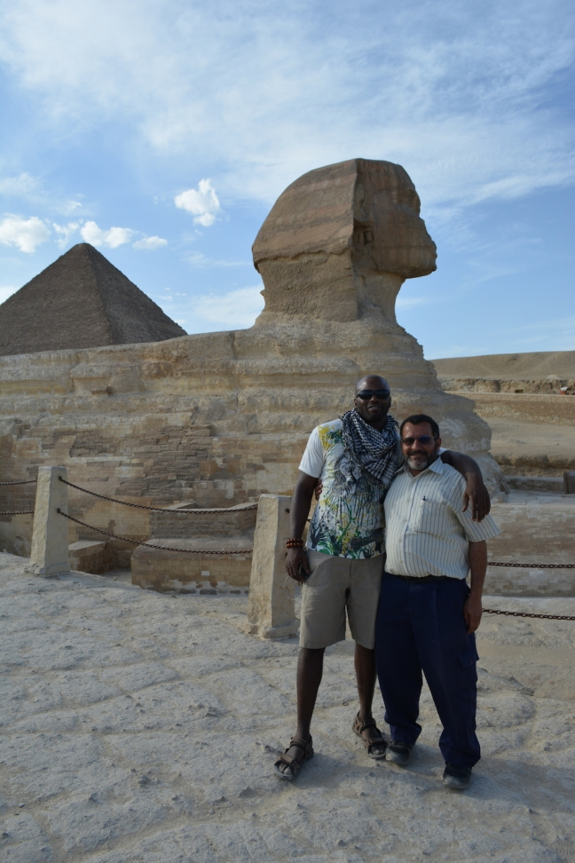 The Spinx, Matthew and our guide Othman #Sphinx