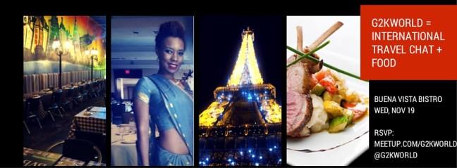 INTERNATIONAL TRAVEL CHAT + FOOD